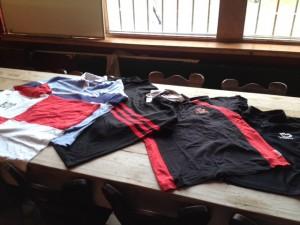 diverse rugbyshirts geschikt voor training